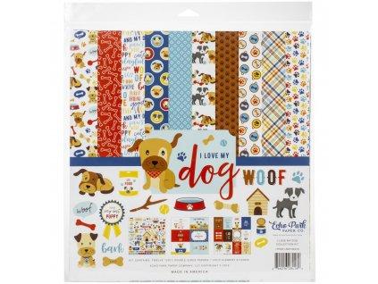 """Echo Park - I LOVE MY DOG - kompletní 12"""" scrapbooková sada"""