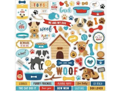 Echo Park - I LOVE MY DOG - samolepky