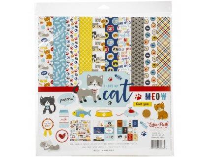 """Echo Park - I LOVE MY CAT - kompletní 12"""" scrapbooková sada"""
