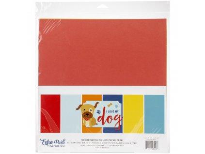 """Echo Park - I LOVE MY DOG - kompletní  JEDNOBAREVNÁ 12"""" scrapbooková sada"""
