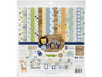 """Echo Park - BABY BOY - kompletní 12"""" scrapbooková sada"""