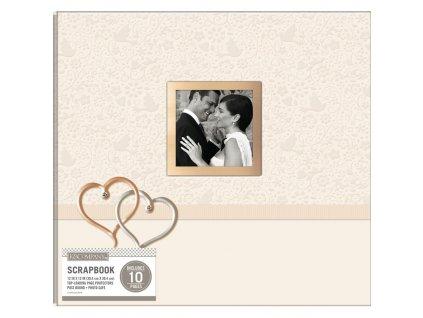 """K&Company - WEDING HEARTS - 12 x 12"""" - svatební scrapbookové album"""