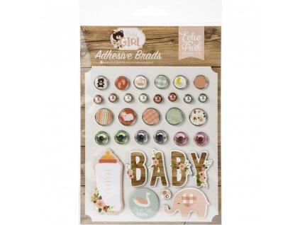 Echo Park - BABY GIRL - decorative brads