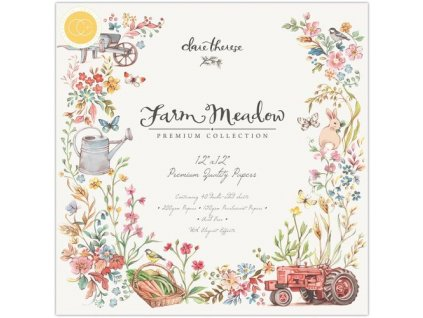 Craft Consortium 12x12 Premium Paper Pad Farm Meadow 15 m