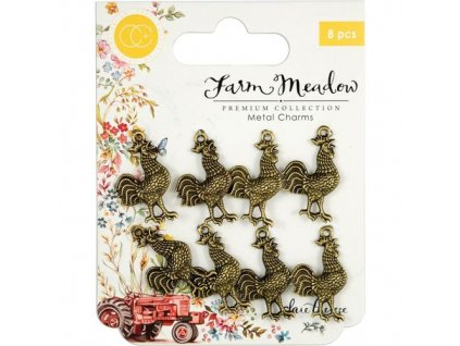 Craft Consortium Metal Charms Rooster 11 m