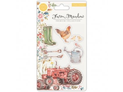 Craft Consortium Clear Stamp Farm Meadow 24 m