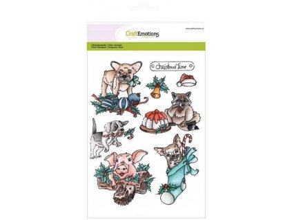 craftemotions clearstamps a5 christmas pets 1 306038 en G