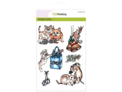 craftemotions clearstamps a5 christmas pets 3 306097 en G