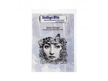 IndigoBlu - JANE COLLAGE - cling gumové razítko