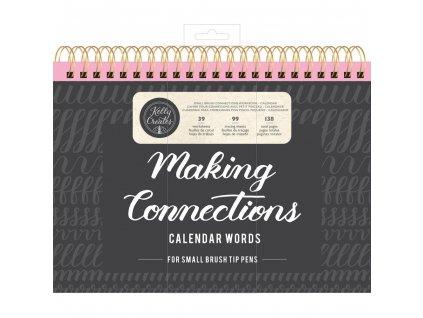 Kelly Creates - MAKING CONNECTIONS / CALENDAR WORDS - písanka na krasopsání, měsíce