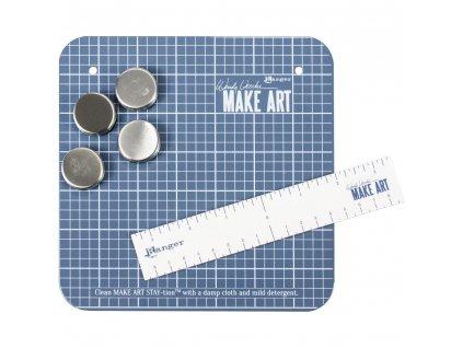 """Ranger - MAKE ART / mini STAY-TION 7x7"""" / Wendy Vecchi - magnetická podložka na tvoření"""