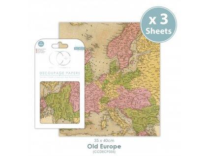 Craft Consortium - DECOUPAGE PAPERS / OLD EUROPE - 35x40 jemný poloprůhledný papír