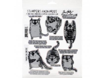 Stampers anonymous / Tim Holtz - SNARKY CAT - cling gumová razítka