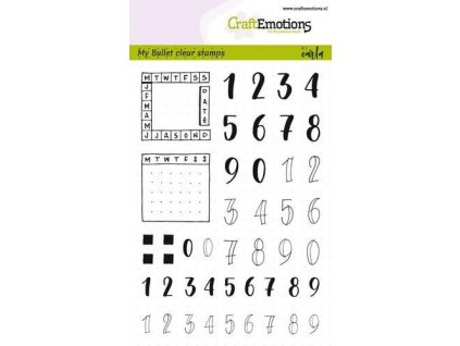 craftemotions clearstamps a6 bullet journal numbers 10mm pl 307027 en G