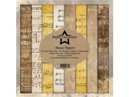 sada papiru 15x15 music papers dixi craft