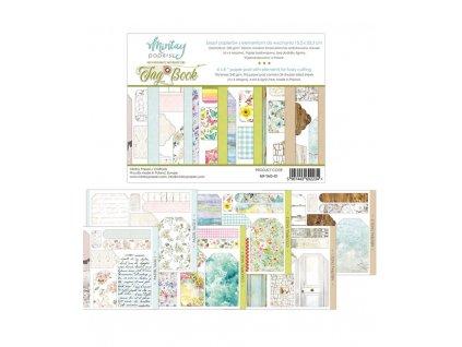 przedsprzedaz bloczek papierow z elementami do wycinania 6x8 tag book mintay papers