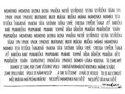 Hurá Papír - NAŠE RODINA / RODOKMEN / A5 - průhledné samolepky