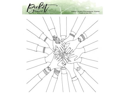 picket fence studios bff my tribe clear stamps bff
