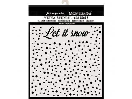 stamperia szablon 3d 18x18 cm chritmas let it snow