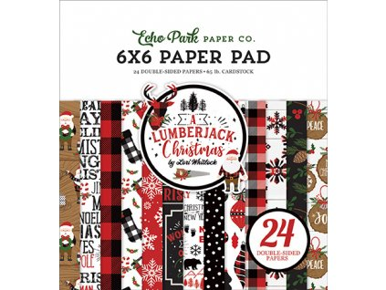 echo park a lumberjack christmas 6x6 inch paper pa