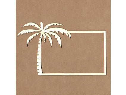 frame with palm tree