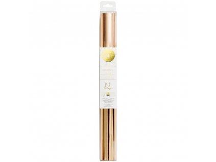 Minc / Heidi Swapp -  XXL ROSE GOLD / 31 cm x 3 metry - termo reaktivní fólie