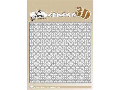 by lene knitting 2 6x6 inch 3d embossing folder bl