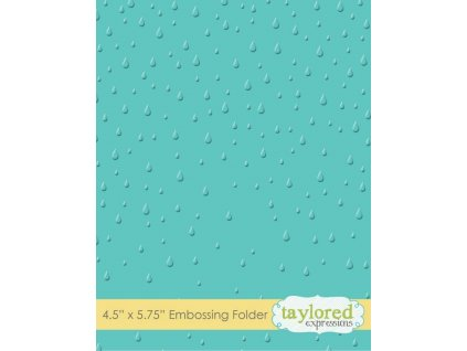 taylored expressions raindrops embossing folder te