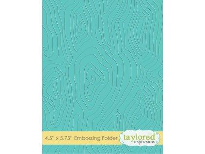 taylored expressions woodgrain embossing folder te
