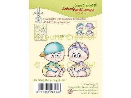 lecrea clear stamp combi baby jongen meisje 55 6043 09 20