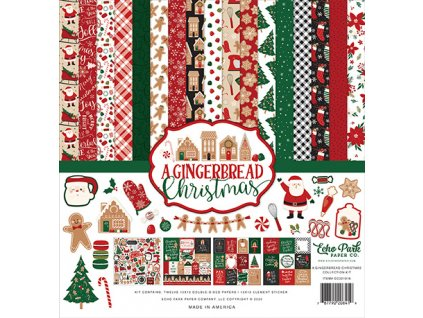 12echo park a gingerbread christmas 12x12 inch colle