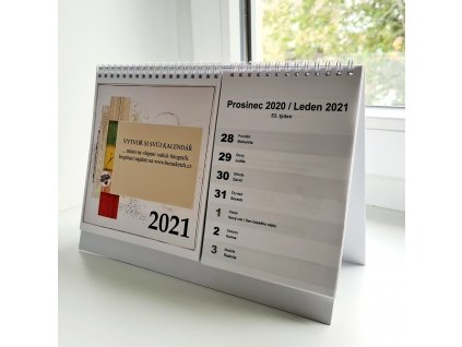 Stolní kalendář / bílý - na rok 2021 na vlastní fotografie