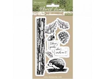 stamperia natural rubber stamp hedgehog wtkccr10