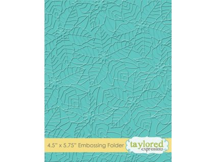 taylored expressions peaceful poinsettia embossing