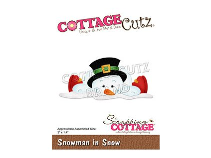 scrapping cottage snowman in snow cc 794
