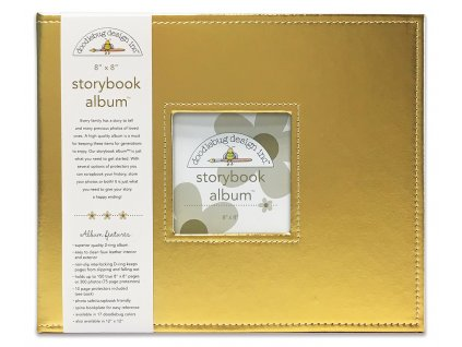 doodlebug design gold 8x8 inch storybook album 573