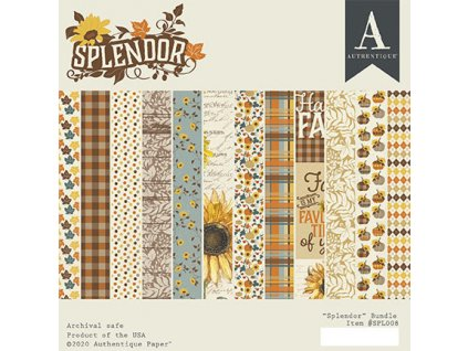 authentique splendor 6x6 inch paper pad spl008