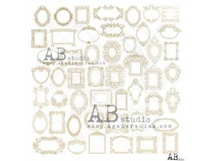 gold scrapbooking paper glam paper sheet 3 shiny little frames 12 x12