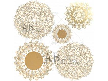 gold scrapbooking paper glam paper sheet 5 glam mandala 12 x12