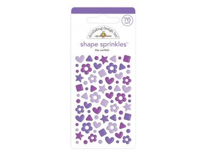 doodlebug design lilac confetti shape sprinkles 76