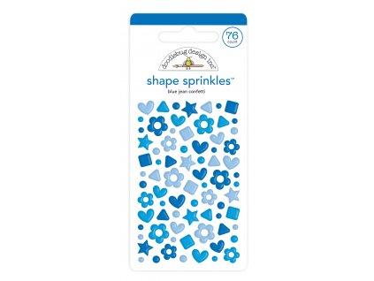 doodlebug design blue jean confetti shape sprinkle