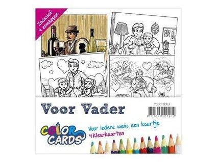 Yvonne Creations - Voor Vader / Color Cards 3 - předtištěné přání