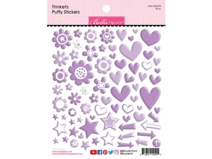 bella blvd plum trinkets puffy stickers bb2294