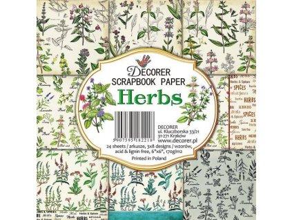 decorer herbs 6x6 inch paper pack c14 218