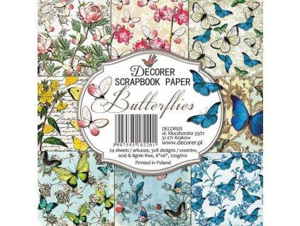 decorer butterflies 6x6 inch paper pack c16 220
