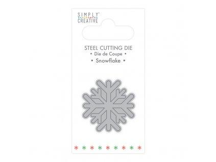simply creative snowflake christmas die scdie133x2