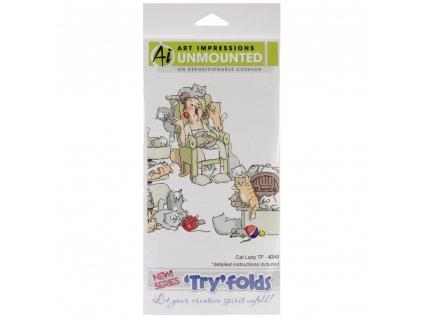 Art Impressions - TRYFOLDS / 4340 - cling gumové razítko