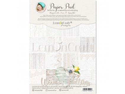 wood patterns 01 bloczek papierow do scrapbookingu 21x29cm lemoncraft