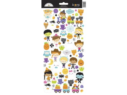 doodlebug design ghost town icons stickers 6993