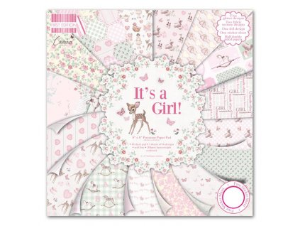 first edition 8x8 pad its a girl fepad079